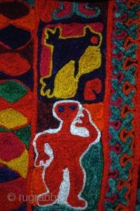 Iraqi Marsh Arab kilim/ wedding blanket. 160cm X 261cm