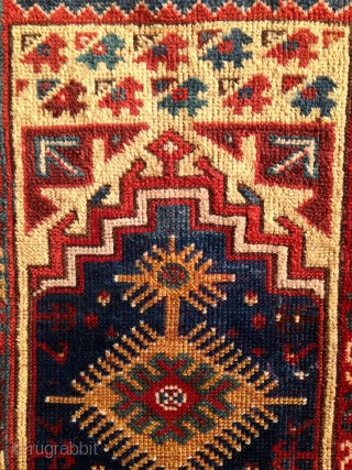 "Makri Double Niche Prayer Rug. Circa 1875, 6'8"" x 4'4"", all natural dyes, rich color. Contact for additional images and info."