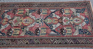 Master Dragon Soumak From Late 19th C. (1880) The rug has been cut on the middle, Master craftmen weaved it back sensitivly with a great quality of job!