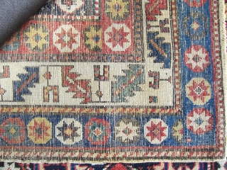 Antique Gendche rug good colours ready for use 1,02*2,81