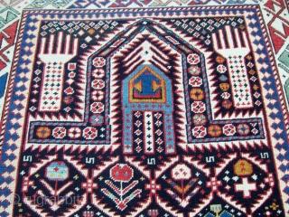 Antique Daghestan Schirvan 1,00*1,57 deep blue ground