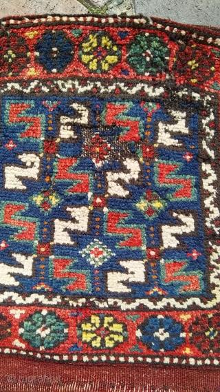 NW Anatolian saddle bag heybe 47 x 132 cm