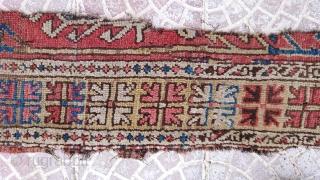Anatolian Karapınar konya rug frakment size=180x36 cm