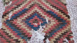 Turkish Anatolian Cappadocia Kilim Frakment Size= 180x150