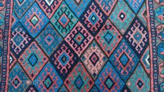 antique collectible Persian Jaf Kurdish bag  size 83x74cm