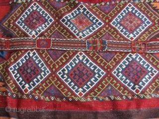 Turkish Anatolian cuval sack Karapınar area  Size=152x118 cm