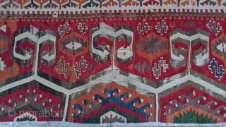 19thc Cappadocia kilim panel size=370x83cm