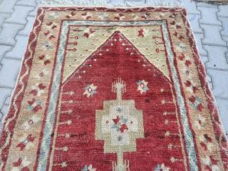 Turkish Anatolian obruk tulu rug Size= 175*114