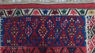 Turkish Anatolian Konya Karapınar kilim Best condition  Size=346*146