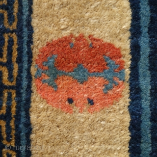 A beautiful, small Chinese rug, 75x147cm, about 120 years old, perfect condition, full pile, all endings original and intact, tenderly washed