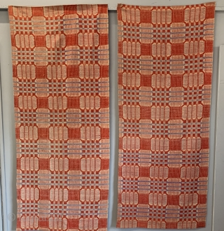 American Pennsylvania double weave wool cloth ( pair ) Size 213 x 90 cm • Imperial size 7ft x 3ft