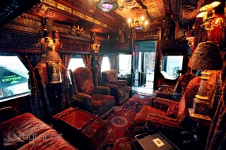This is part of the interior of a 1927 private rail car that now belongs to the zillionaire who owns Patron taquila. (you can google it)