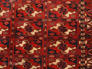 Antique Tekke Turkmen chuval with the boxed chuval gul design. www.knightsantiques.co.uk 