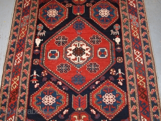 Antique Caucasian Khila rug from the Baku region of the Eastern Caucasus. www.knightsantiques.co.uk   Circa 1890.  Size: 5ft 5in x 3ft 8in (165 x 113cm).   This is an outstanding example of this type of  ...