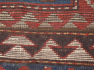 Kazak prayer rug, for restoration or enjoyment at a very fair price. Size: 134 x 104cm. www.knightsantiques.co.uk