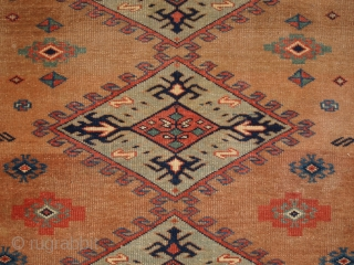 Antique Caucasian Derbent rug of very fine weave and a soft colour palette. www.knightsantiques.co.uk   Size: 4ft 10in x 3ft 5in (147 x 103cm).  Circa 1900.  The town of Derbent is located on the coast  ...