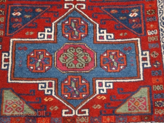 Antique Eastern Anatolian Kurdish Yuruk long rug with four medallion design. www.knightsantiques.co.uk 