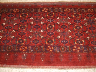 Antique Beshir Turkmen chuval with the 'mina khani' (many flowers) design. www.knightsantiques.co.uk 