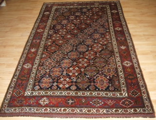 Antique South West Persian Luri tribal rug of outstanding and unusual design. www.knightsantiques.co.uk 