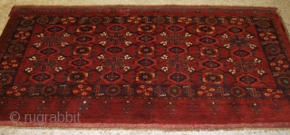 Antique Beshir Turkmen chuval with the 'mina khani' (many flowers) design. www.knightsantiques.co.uk Size: 6ft 8in x 3ft 6in (202 x 106cm).   Late 19th century.  This Beshir chuval is of very large size and  ...
