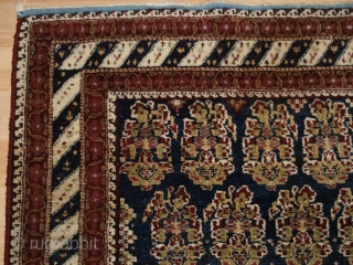 Antique 'Jail' Agra rug with all over large boteh design. www.knightsantiques.co.uk Size: 7ft 11in x 5ft 1in (241 x 155cm). 