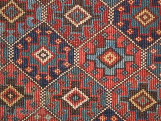 Antique Shahsavan mafrash panel, with diamond lattice design. www.knightsantiques.co.uk 
