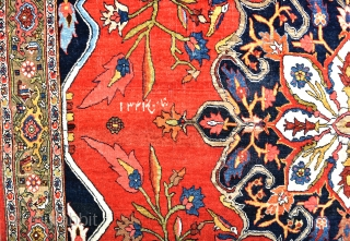 A top flight Halvai Bijar rug. With its velvet-like handle, intense dyes and masterful drawing, this piece exemplifies the weavings from the village of Halvai which is well known to have produced  ...