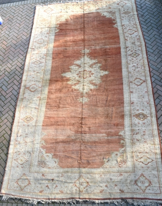 An antique Persian carpet from the celebrated workshop of Zeiglar and Co in Sultanabad (now Arak). This very rare and supremely decorative carpet was discovered recently in the garage of a large  ...