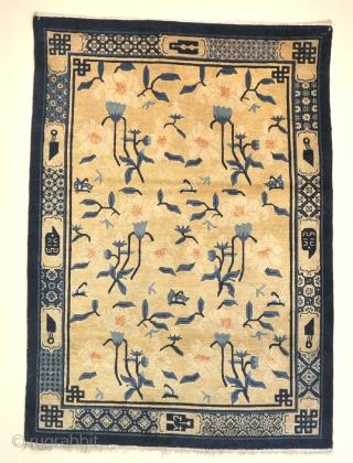 Very pretty Peking rug in near full pile. Circa 1900.178x126