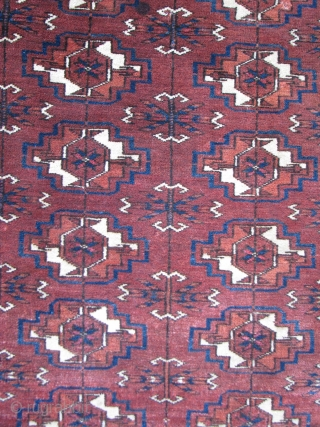 """Small Tekke Rug  --  19th Century  --  3'  x  3'8""""  --  All Natural Dyes;  Full Pile  --  If you can not  ..."""