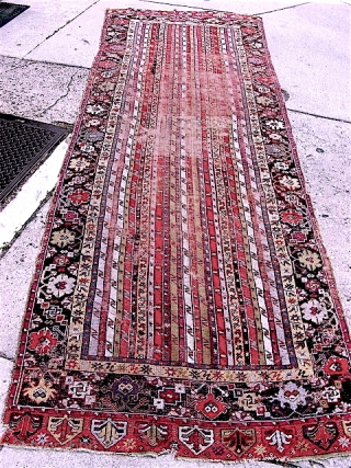 Elegant Mujur long rug/runner, good age. All original. Wear, oxidation, etc. Wabi sabi to the max.