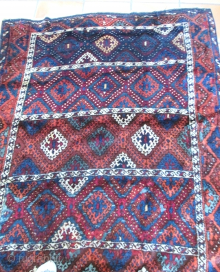 "Anatolian Yuruk Rug 19th C.  A pattern somtimes called ""Baklava\""
