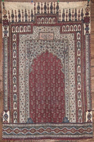 Kalam kari - Iran - XIX century. Good condition with lining. 134 X90 cm