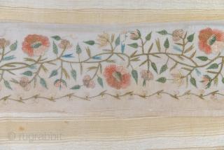 Otoman embroidered towel fragment. 54 x 52 cm