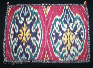 1850th Uzbek adras Ikat fragment, it is excellent piece, as a collector, superb natural dyes colours.and design. It can be very good decorative piece. it is silk warp cotton weft. Very cute  ...