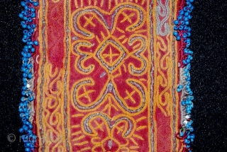 A excellent 19th cent Uzbek money pulse. it has beautiful stitches(some of the parts are gold stitches such as in the middle parts) and superb natural dyes colours, perfect condition.