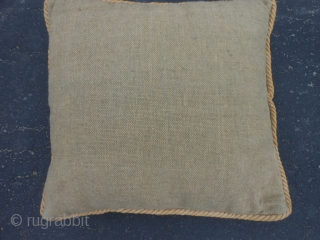 "Indonesian Boat Cloth Pillow, early 20th century, 14"" x 14"" (.36 x .36), very good condition, nice pillow made out of old Indonesian boat cloth, cotton, plus shipping."