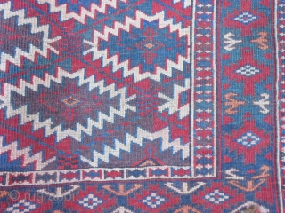 Turkoman Teke Asmalyk, circa 1900, 2-4 x 3-7 (.71 x 1.09), very good condition, has 95% of its tassels, fine weave, rug is clean, plus shipping.