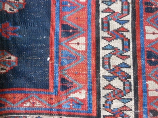 Persian Veramin Torba, late 19th century, 1-8 x 3-6 (.51 x 1.07), good condition, rug was hand washed, 2 three inch creases repaired (pics), small hole, good pile, plus shipping.