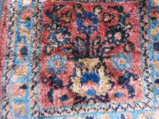 Persian Lilihan Mat, early 20th century, 1-0 x 1-0 (.31 x .31), good condition, good pile, hand washed, complete, plus shipping.