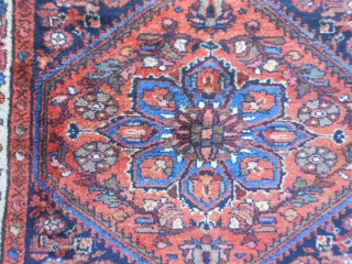 Persian Hamadan, early 20th century, 3-8 x 6-2 (1.12 x 1.88), very good condition, full pile, rug was hand washed, original edges, one end original braided selvage,the other end overcast, Kurdish, plus  ...