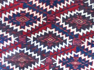 Turkoman Teke Asmalyk, early 20th century, 2-4 x 3-7 (.71 x 1.09), vert good condition, fine weave, 95% 0f tassles, rug is clean, plus shipping.