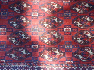 Yomud Chuval, early 20th century, 2-6 x 3-11 (.76 x 1.19), very good condition, full pile, rug was hand washed, fine weave, plus shipping.