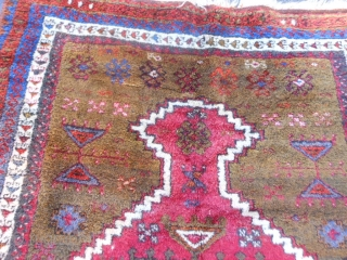 Turkish Prayer Rug, early 20th century, 3-1 x 4-2 (.94 x 1.27), rug has been washed, very good condition, fine weave, full thick pile, nice edge selvage, floppy handle, plus shipping.