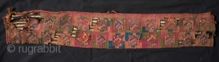 Incan Period Belt Bag.  This soft camelid wool belt bag is from the southern coastal region of Peru from the Chuquisaca culture. Wonderful colors and although damaged, a wonderful and very  ...