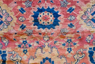 Heriz Silk Rug, 1850s.  Wonderful harshang design in sumptuous silk.  The designs are elegantly articulated in a soft array of natural hues.  This rug has it all. Great colors,  ...