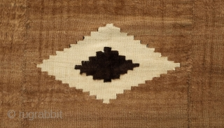 Siirt Rug/Blanket, Early 20th Century.  This wonderful Siirt mohair rug is in three panels in an uncommon beige color.  Wonderfully poised design in a central medallion with four corner triangular  ...
