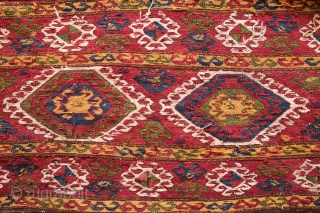 Caucasian Mafrash. Possibly Karabagh. Third to Fourth quarter of the 19th Century. Wonderful deeply saturated natural colors. Archaic hooked medallions.  It is in great condition. A wonderful piece for a collection.  ...