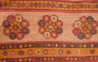 Monastir Prayer Rug, 4th Quarter of the 19th Century.  Good pile and soft colors.  Nicely framed in a white border. Playful color variation on the tip of the mihrab.   ...