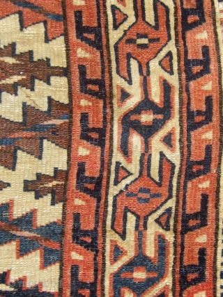 Antique Turkmen Yomut asmalyk, circa 1890.  All dyes appear natural. Not yet washed.  Please ask for additional photos if needed.